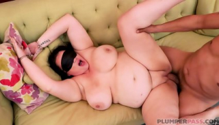Blindfolded Fat Slut In Action