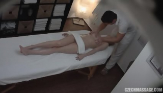 Amateur Blonde Gets Abused During Massage