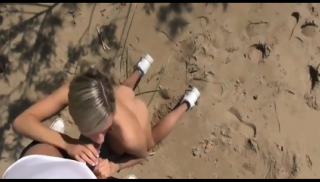 Swedish Stunning Blonde Gets Anal Fucked On Beach