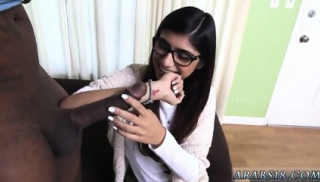 Latex bondage blowjob xxx Mia Khalifa Tries A Big Black Dick