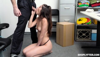 Girl Punished By Security Guy