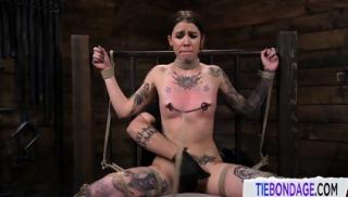 Inked Teen Slave Toyed During NT Punishment