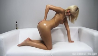 Attractive Blonde Takes Off Clothes