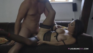 Busty Lady In Lingerie Gets Fucked Hard