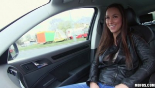 Seduction Of Busty Teenager In The Car