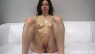 Pretty Amateur Rubs Cock At The Casting