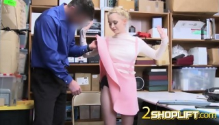 BLONDE petite ATHENA pounded HARDCORE by BWC in OFFICE