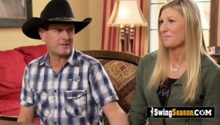 COWBOY goes to the SWINGER HOUSE with his BISEXUAL wife